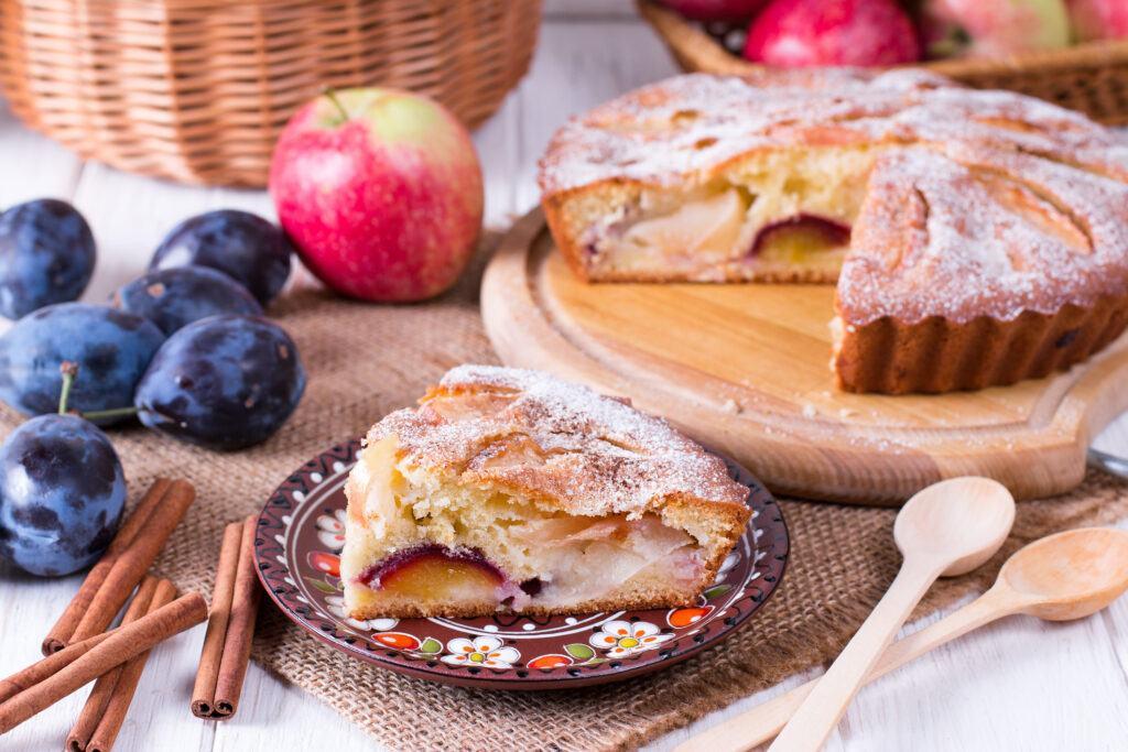 Apple and Plum Tart